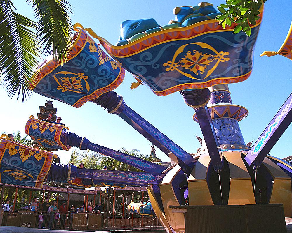 Tips for planning a last minute walt disney world vacation for Aladdin carpet ride magic kingdom