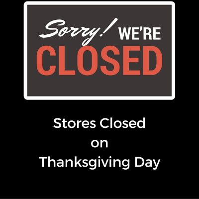 Thanksgiving Shopping, not at these retailers