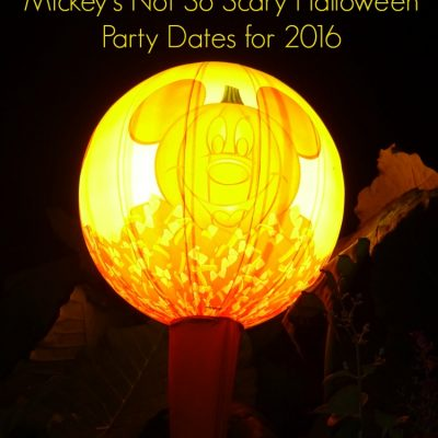 Mickey's Not So Scary Halloween Party Dates for 2016