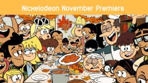 nickelodeon november premiers