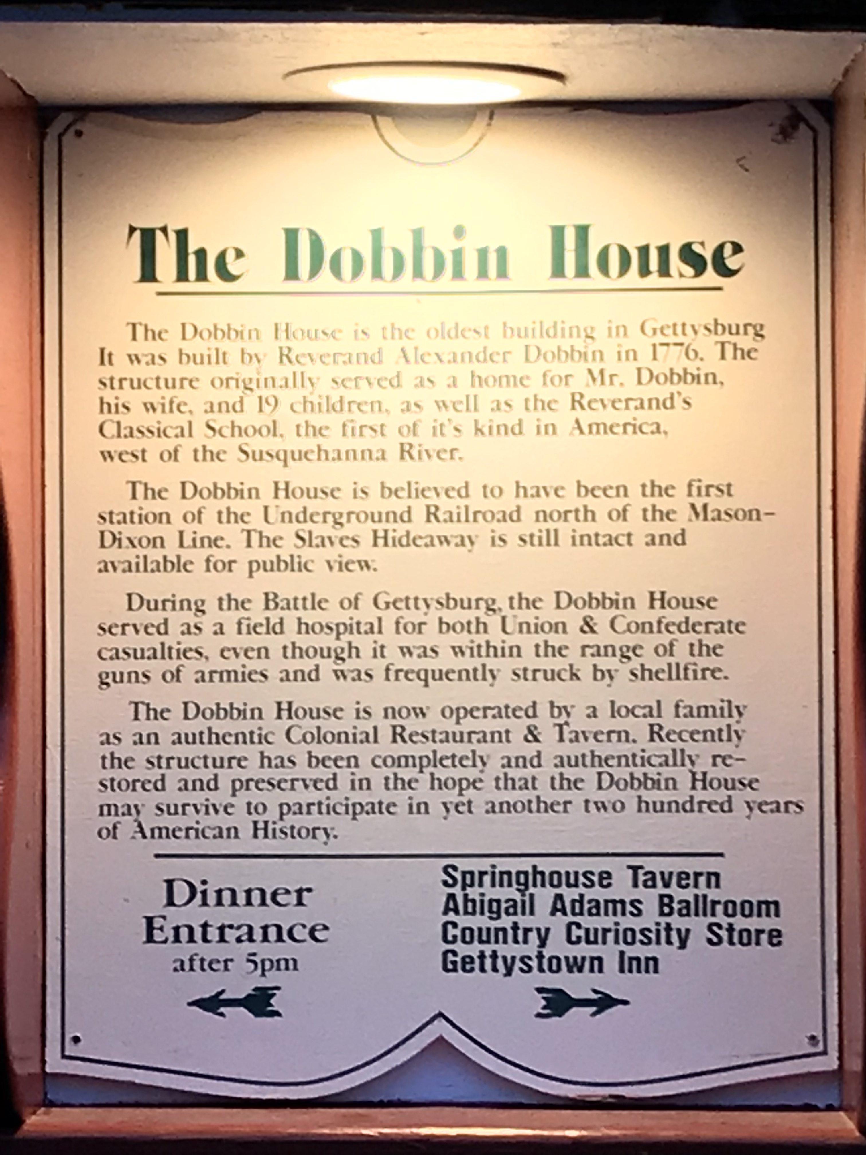 dobbin house tavern review