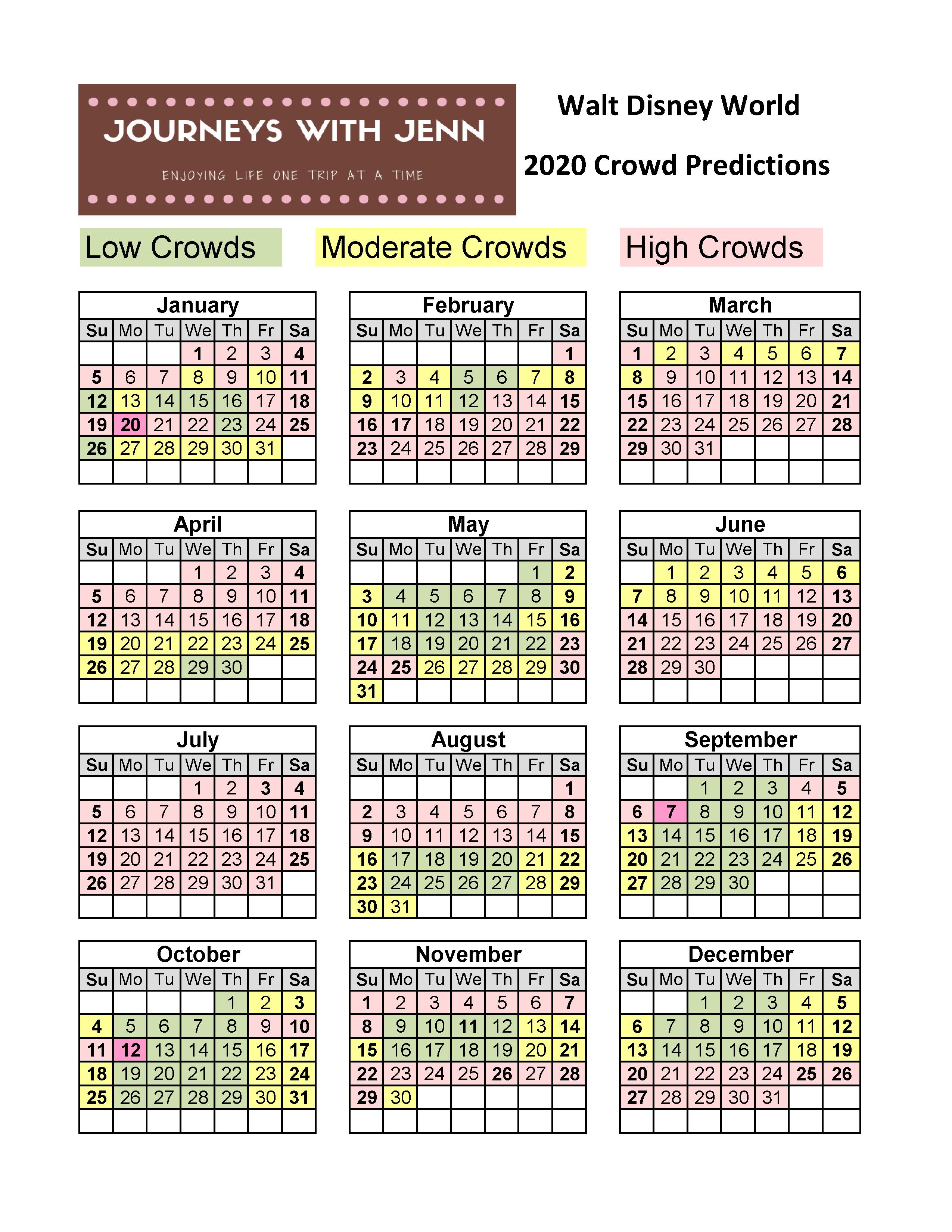 Best Time To Go To Disney World 2020.Walt Disney World Crowd Calendar 2020 Best Weeks To Visit