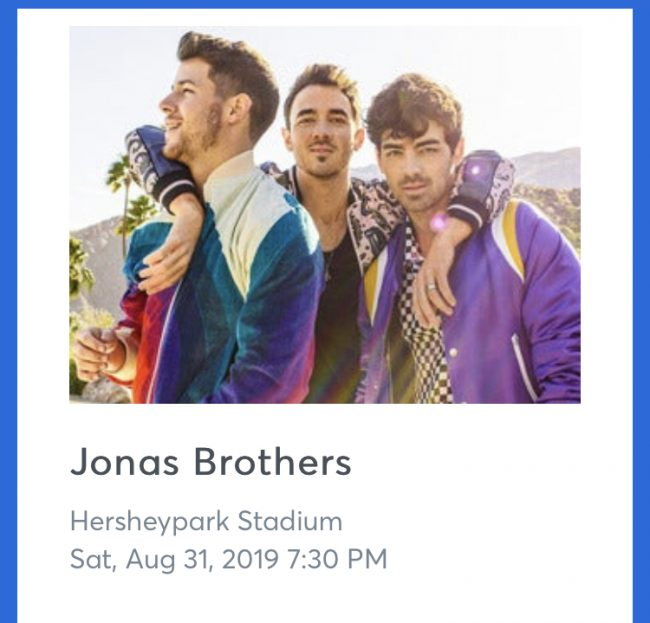 jonas brothers tour