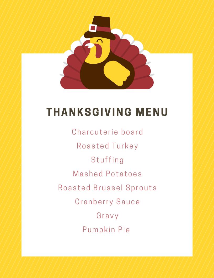 ultimate thanksgiving dinner shopping list